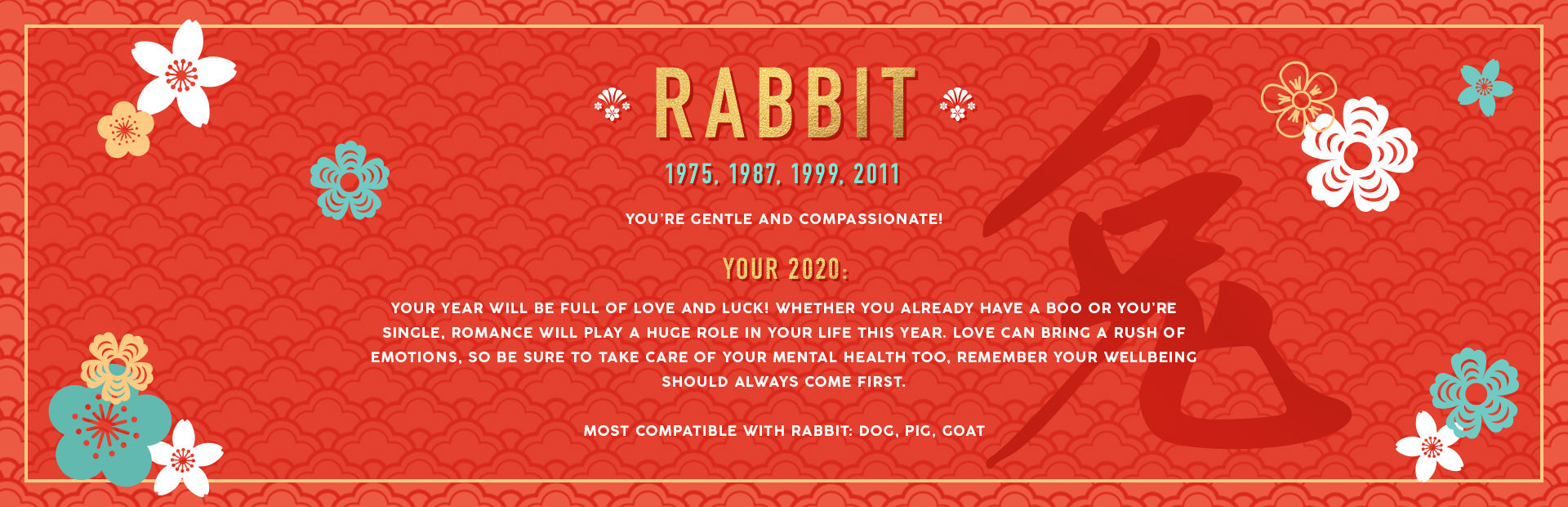 Rabbit Lunar New Year Collection Banner Image