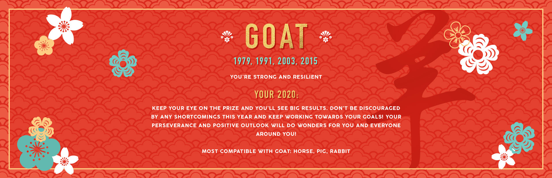 Goat Lunar New Year Collection Banner Image