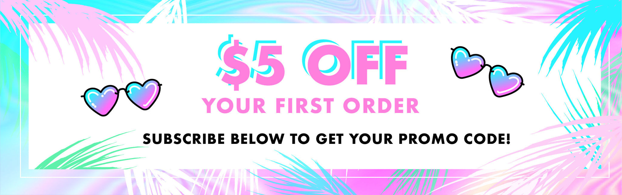 $5 off your first order promo banner