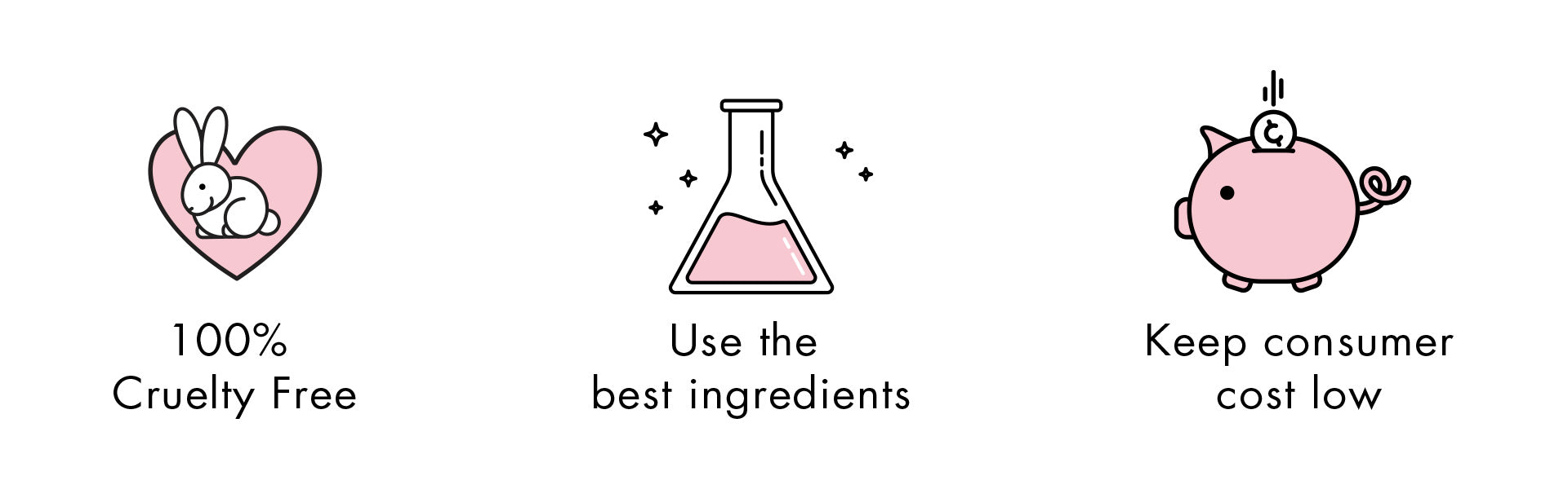 100% cruelty-free, use the best ingredients, and keep consumer costs low