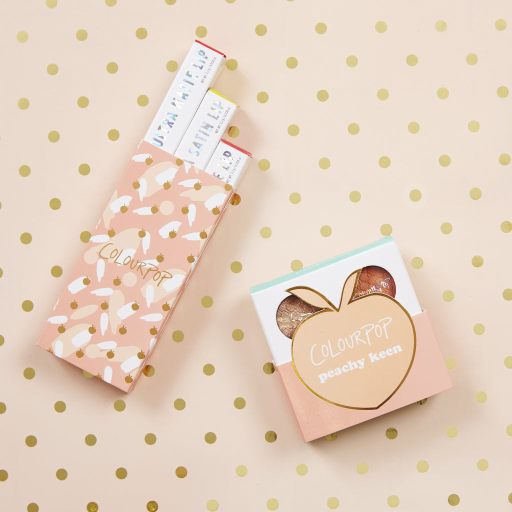 Peachy Keen includes Crimper, Kennedy, Cornelious, and Bandit eye shadows