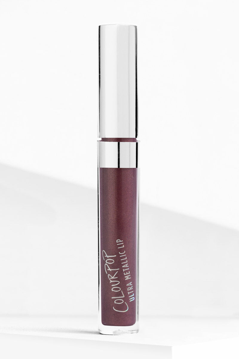 3-Way plum metallic with gold sparkles Ultra Metallic Lip