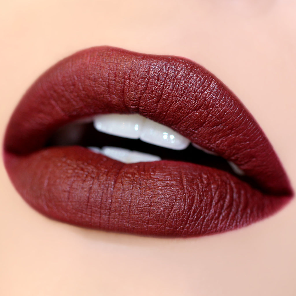Chateau wine Matte X Lippie Stix swatch