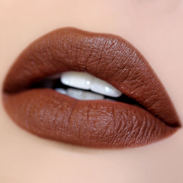 Hollywood Blvd brown Matte X Lippie Stix swatch