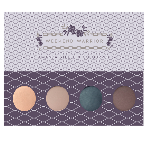 Amanda Steele Weekend Warrior pressed powder eye shadow Foursome