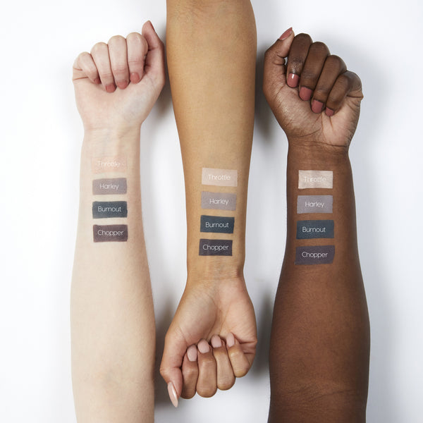 Amanda Steele Weekend Warrior pressed powder eye shadow Foursome swatches