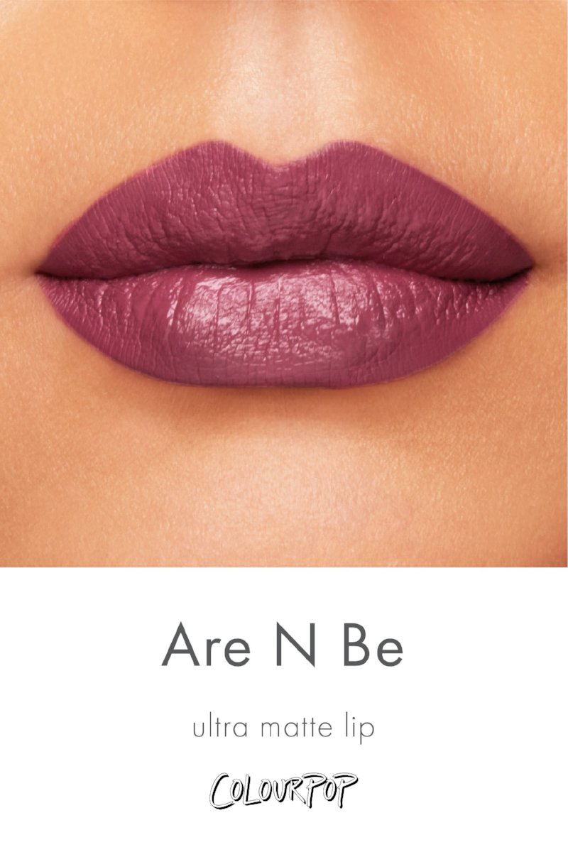 Team Are N Be rich mauve Ultra Matte Lipstick swatch on medium skin