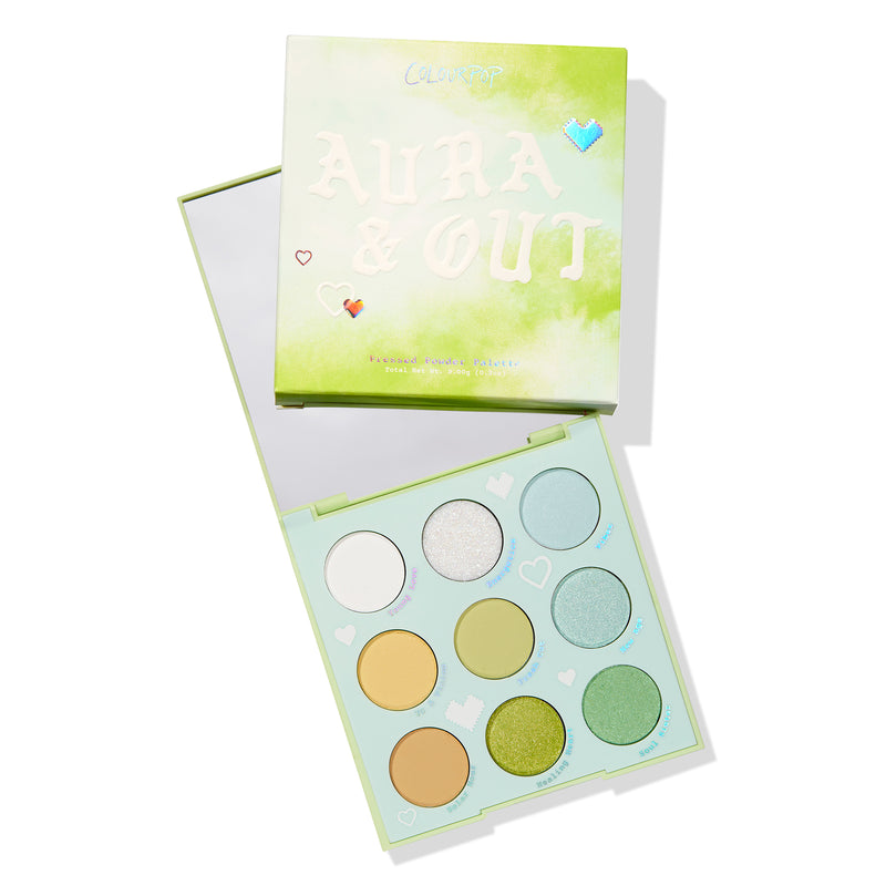 Aura & Out pastel Yellow, chartreuse, and mint Eyeshadow Palette