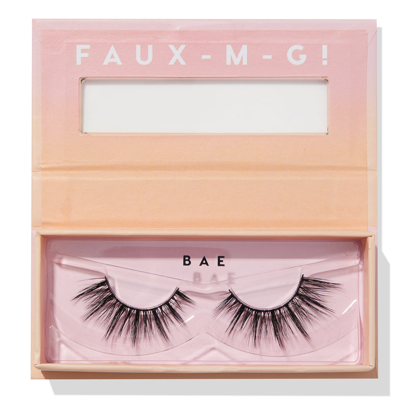 Bae Faux Lashes in packaging with open box