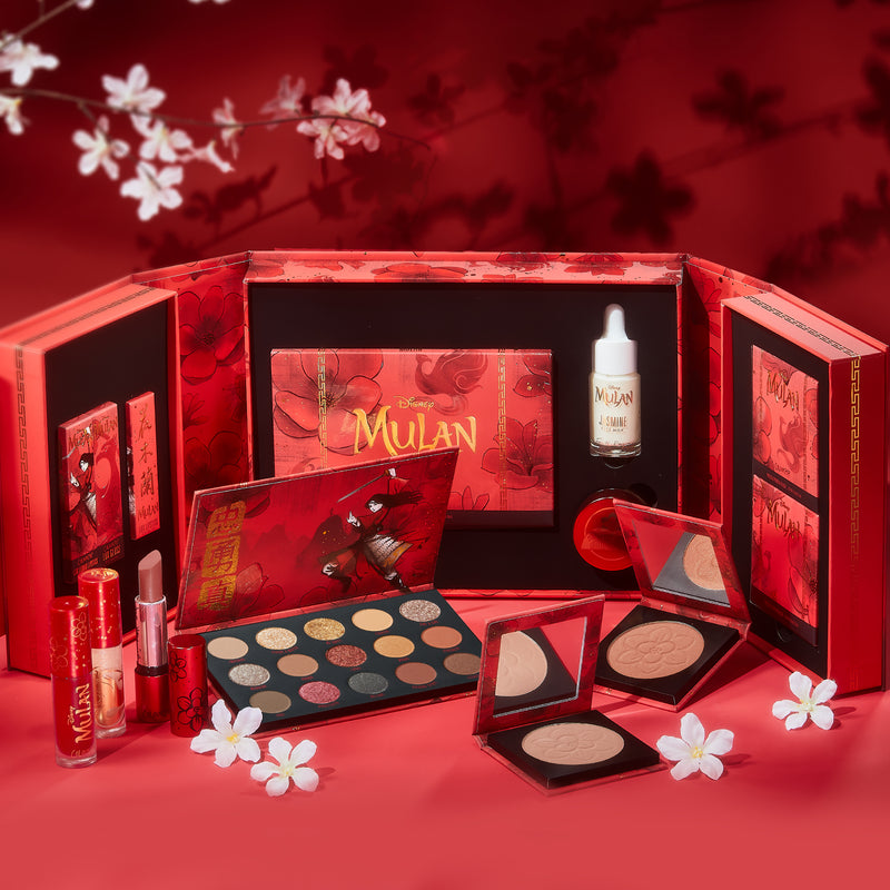 Mulan PR kit open with all products being displayed inside and outside box