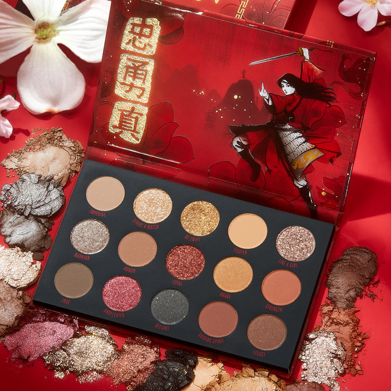 Mulan Palette with deconstructed shades around palette