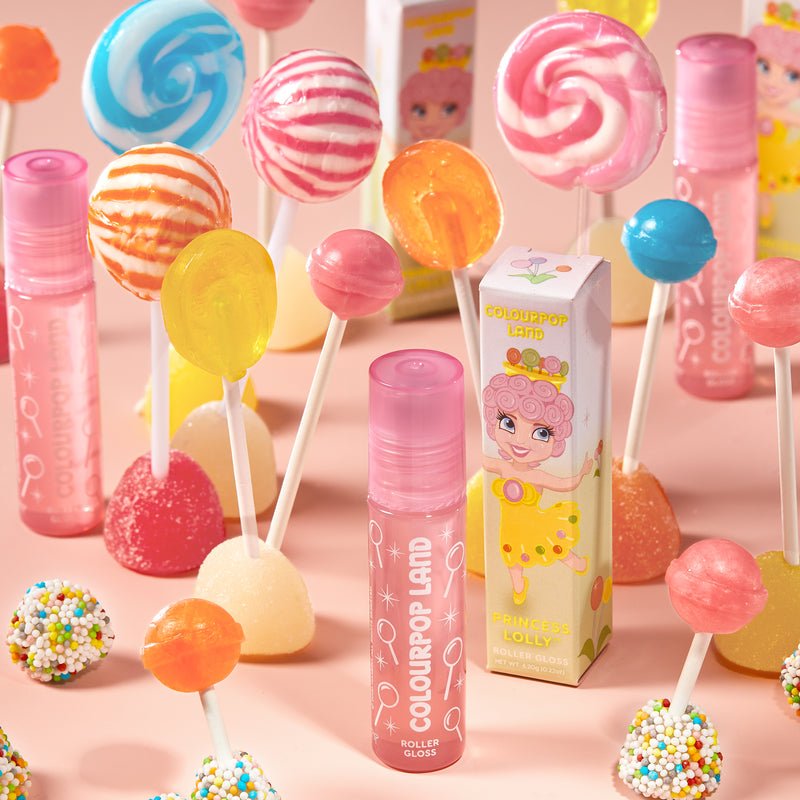 Candy Land Princess Lolly lollipop flavored clear roller gloss
