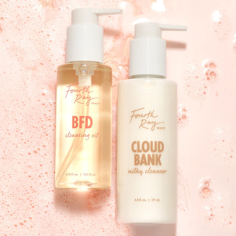 Comfort Cleansing Duo includes BFD Cleansing Oil and Cloud Bank Milky Cleanser