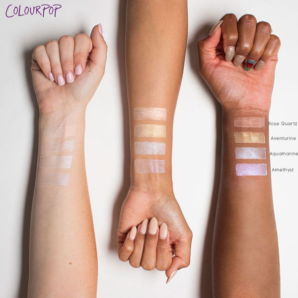 Amethyst Liquid Highlighter arm swatches
