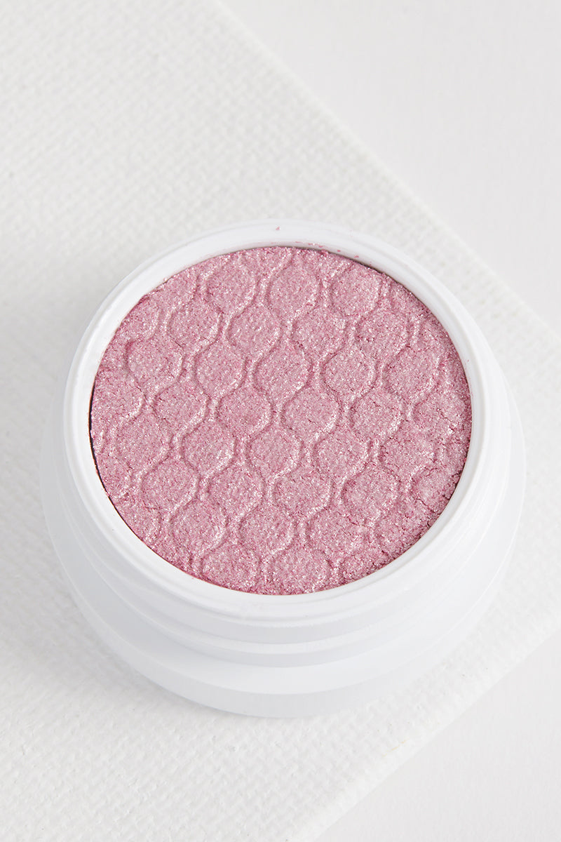 Cuddle Buddy metallic true pink with silver glitter Super Shock eye Shadow