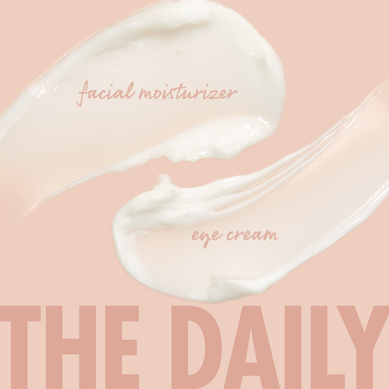 The Daily Face and Eye Cream swatches