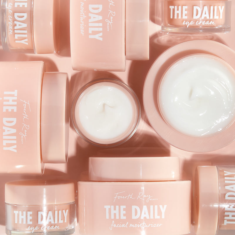 The Daily Face and Eye Cream with open lids