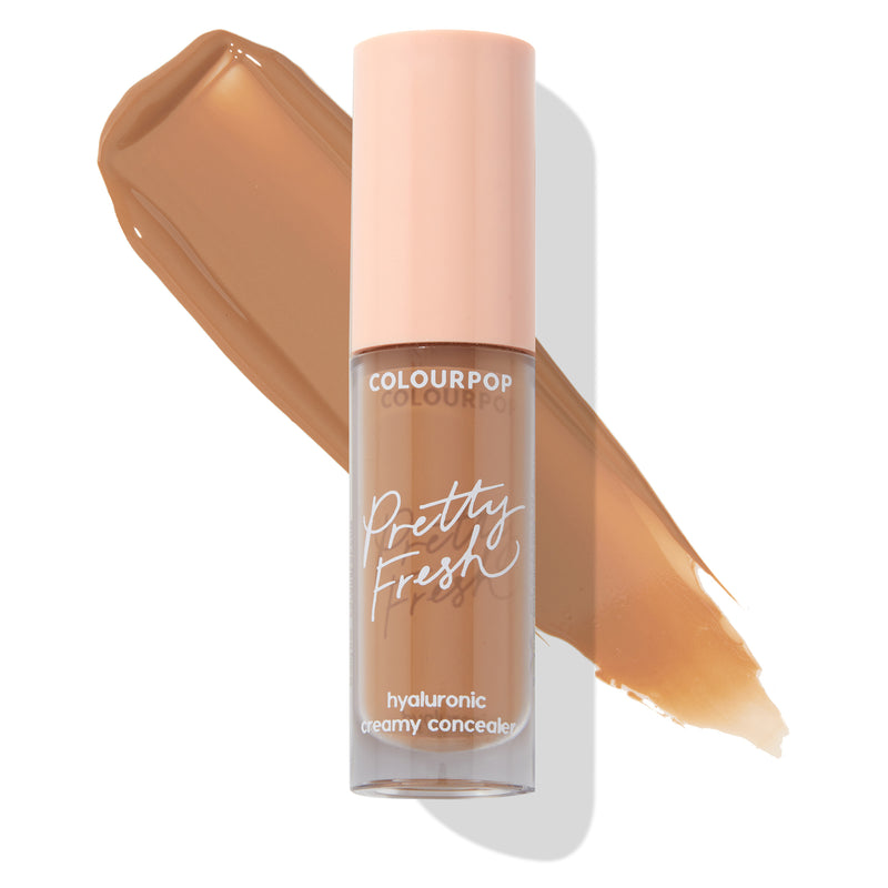 ColourPop Hyaluronic Creamy Concealer Dark 158 W Oil Free and Ideal for All Skin Types with Swatch