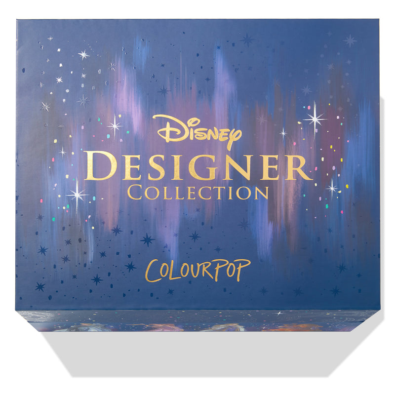 ColourPop Disney Midnight Masquerade PR Collection includes the Midnight Masquerade Palette and all 8 Princess bundles, each including a Lux Liquid Lipstick and Compact Blush or Highlighter Packaging