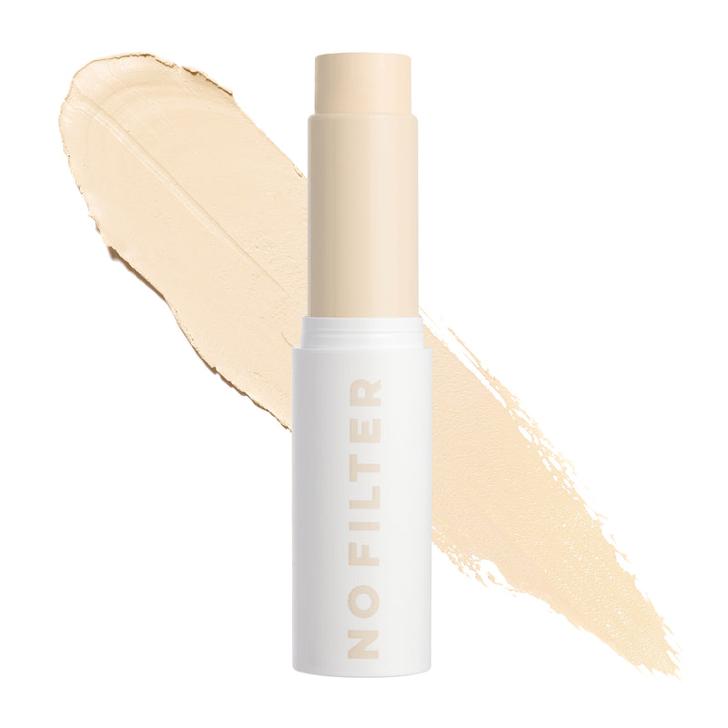 Fair 05 W No Filter Foundation Stix Warm medium-buildable coverage foundation stick with subtle yellow undertones for very fair skin tones