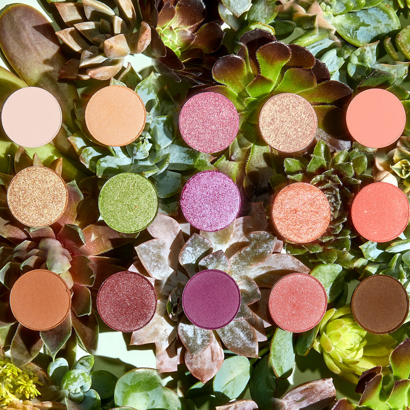 Garden Variety Eyeshadow Palette create the freshest looks with a mix of vibrant shimmers and earthy mattes.
