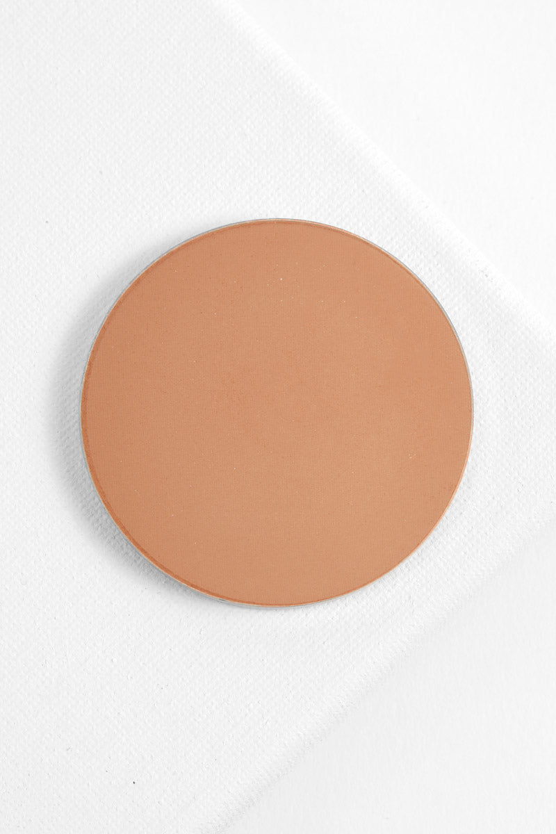 Getting Handsy matte warm nude Pressed Powder Blush