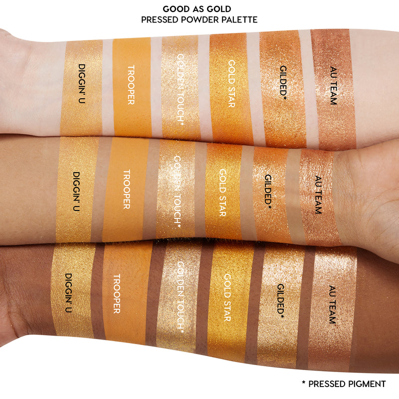 Good as Gold Golden Eyeshadow Palette Arm Swatches