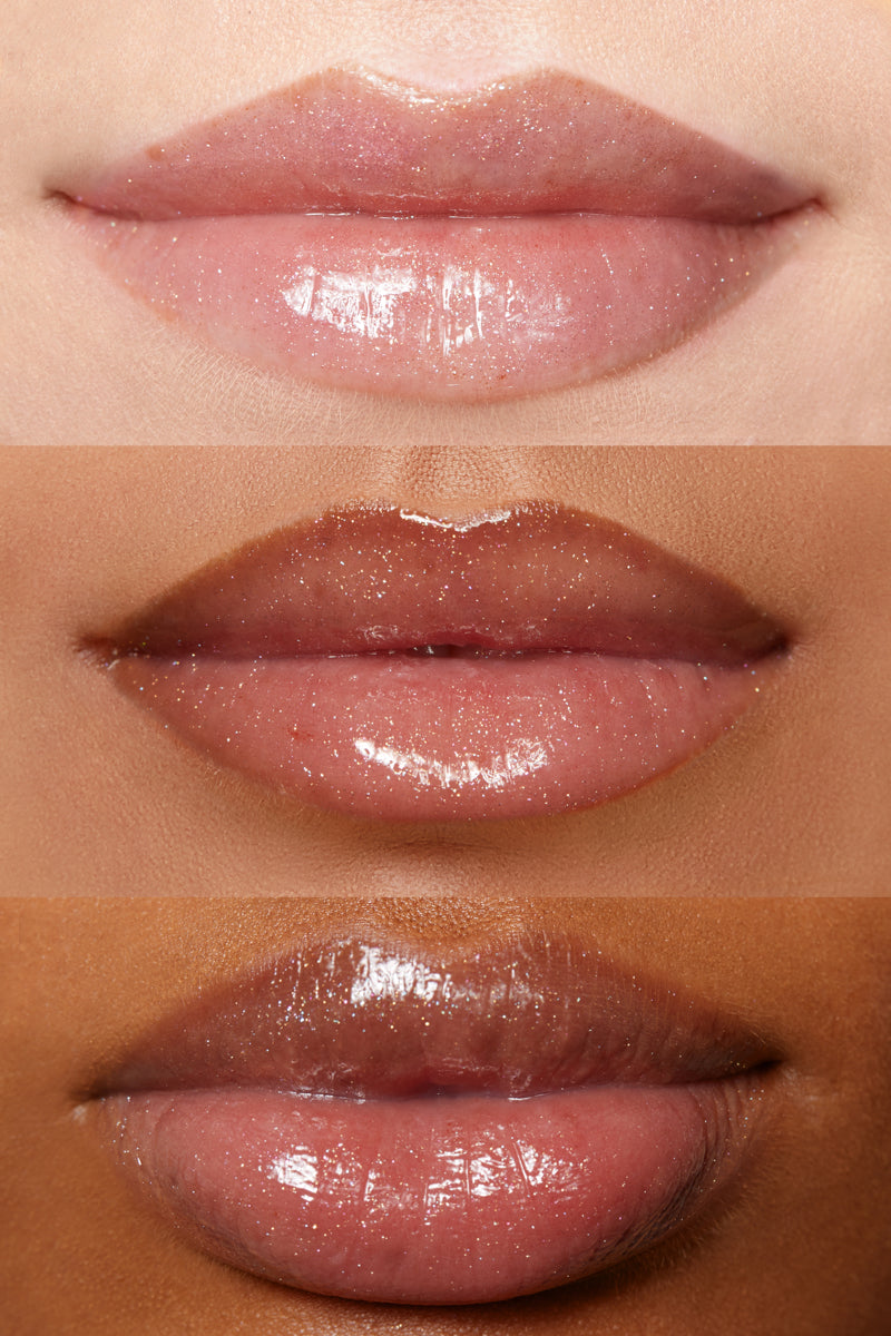 Here's 2 U prismatic pink Ultra Glossy Lip lip swatches