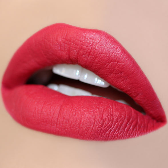 Honey Pie bright pinky red Ultra Matte Lip swatch