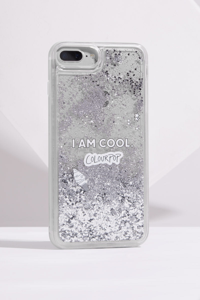 I am Cool ColourPop Clear Glitter iPhone 6/7/8 Plus Phone Case