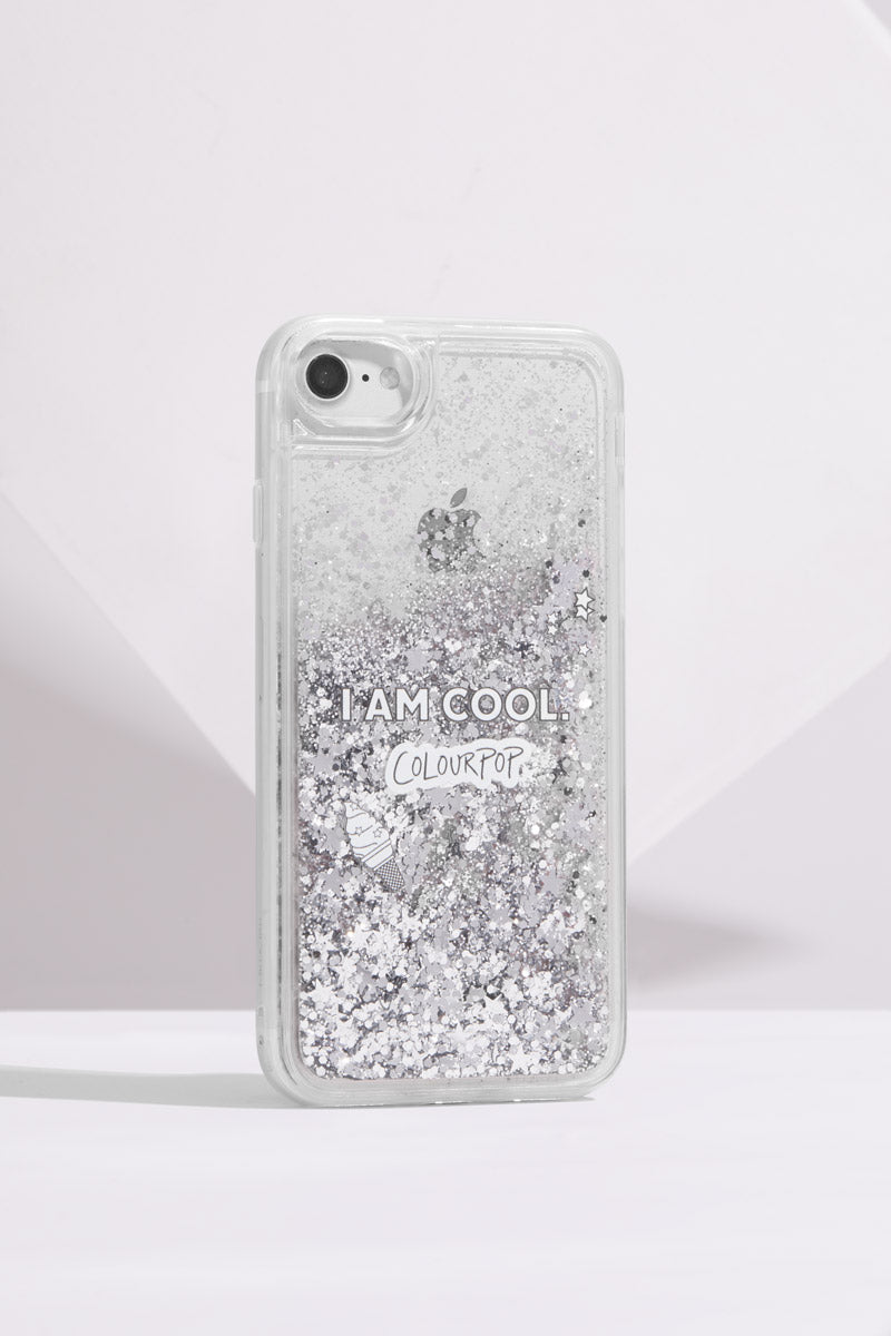 I am Cool ColourPop Clear Glitter iPhone 6/7/8 Phone Case
