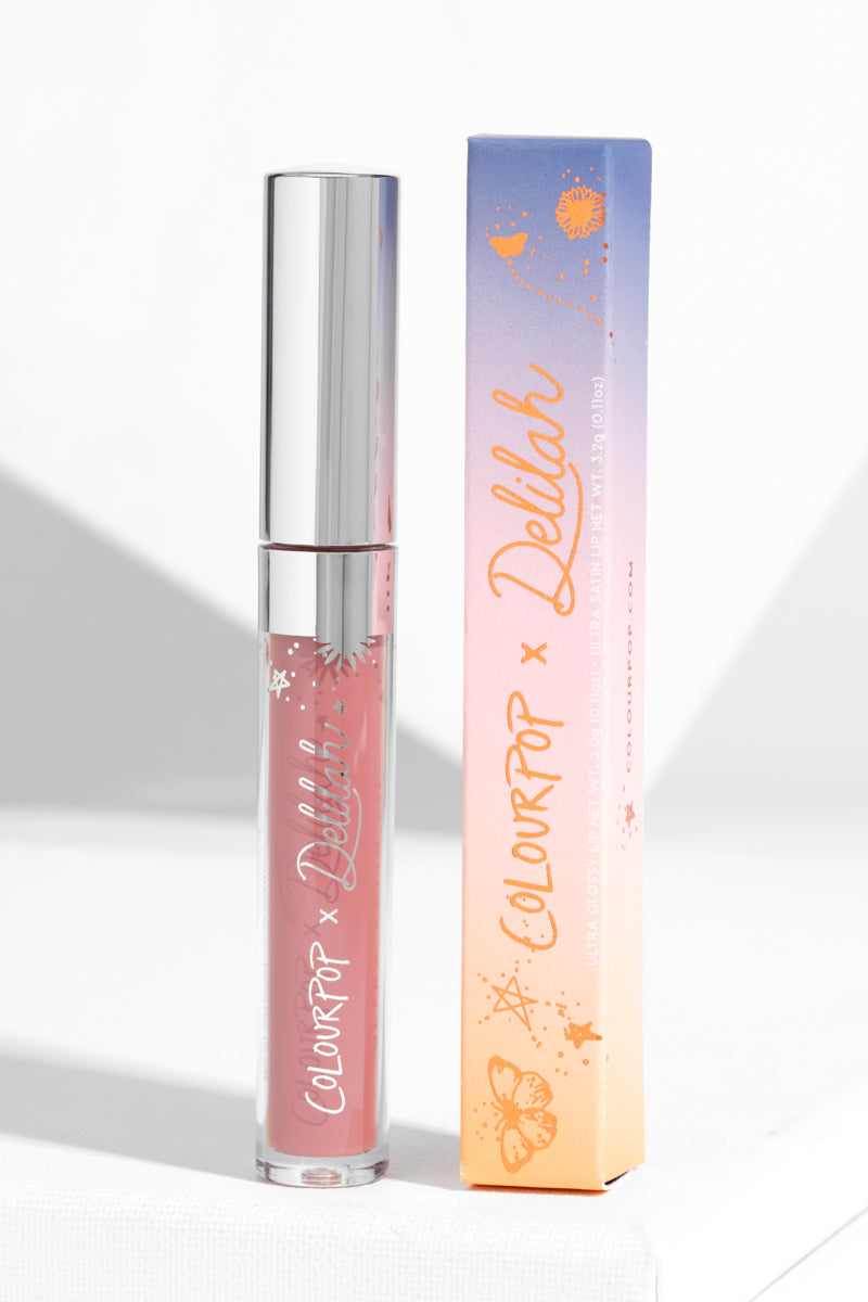 Colourpop x Make A Wish JJ Ultra Glossy Lip soft raspberry hi-shine unit carton