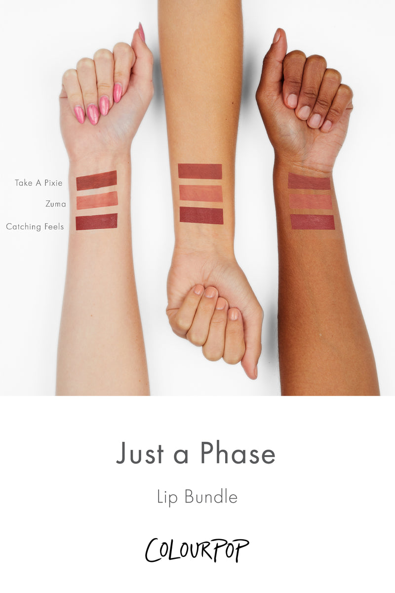 Just A Phase Lip Bundle Arm Swatches