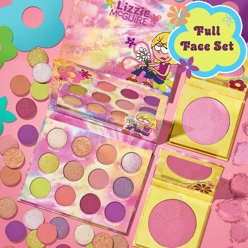Disney Lizzie McGuire Major Rewind Button - Palette + Blush Duo - What Dreams Are Made Of + Deelish + You are Magnifico
