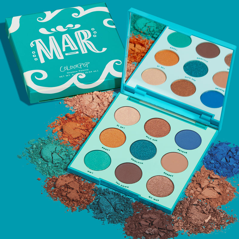 Colourpop Mar Teal and Bronze 9 pan Pressed Powder Shadow Palette