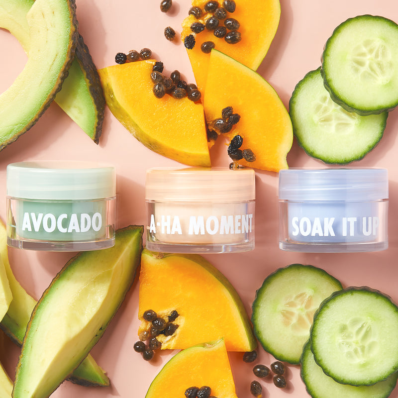 Multi-Mask Trio with Avocado, Soak It Up and A-Ha Moment Mini Masks