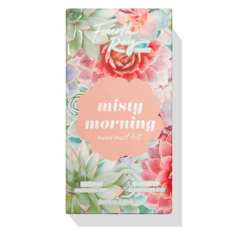 Misty Morning Face Mist Mini Kit includes Fresh AF & Glisten Up Mini Facial Mists
