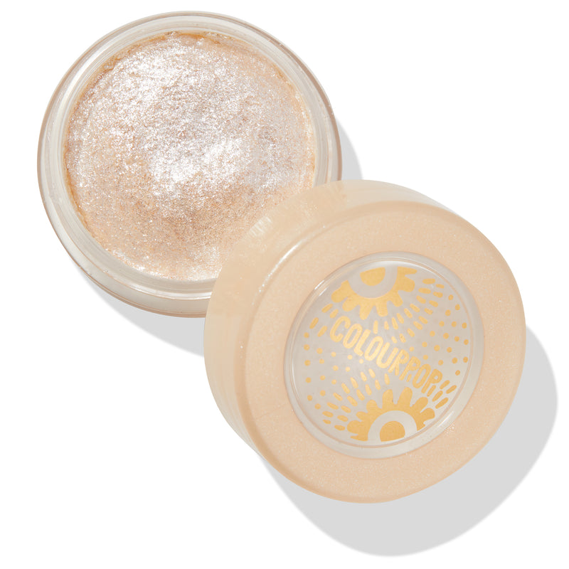 Mojave Moves icy ivory Jelly Much Eyeshadow with silver glitter