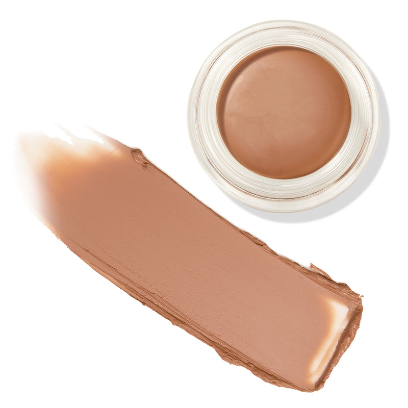 Moonbeam warm deep nude Crème Eyeshadow pot with swatch