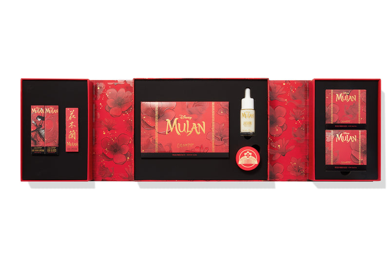 Mulan PR box with the products in its compartments