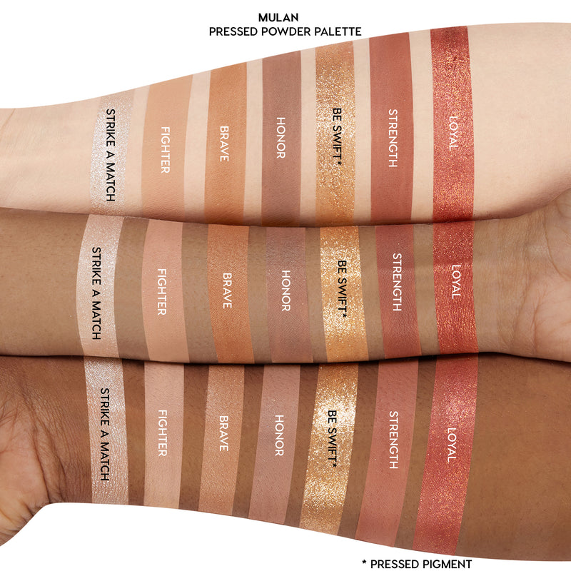 Mulan Palette arm swatches