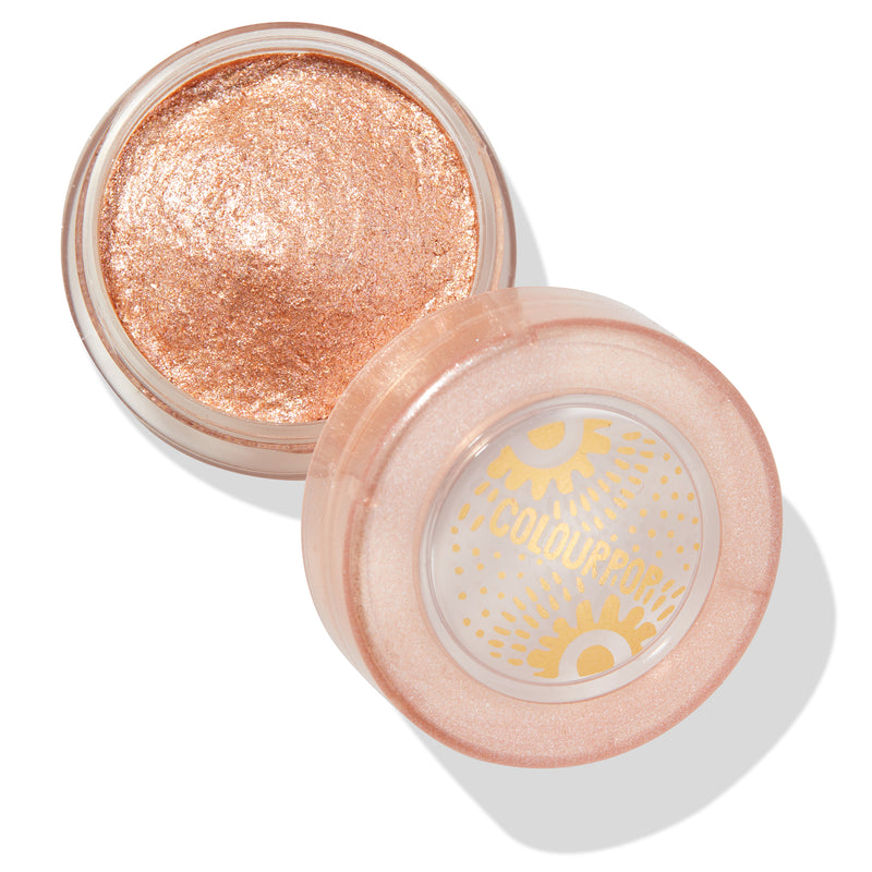 Mystical icy taupe Jelly Much Eyeshadow with gold, pink, and silver glitter