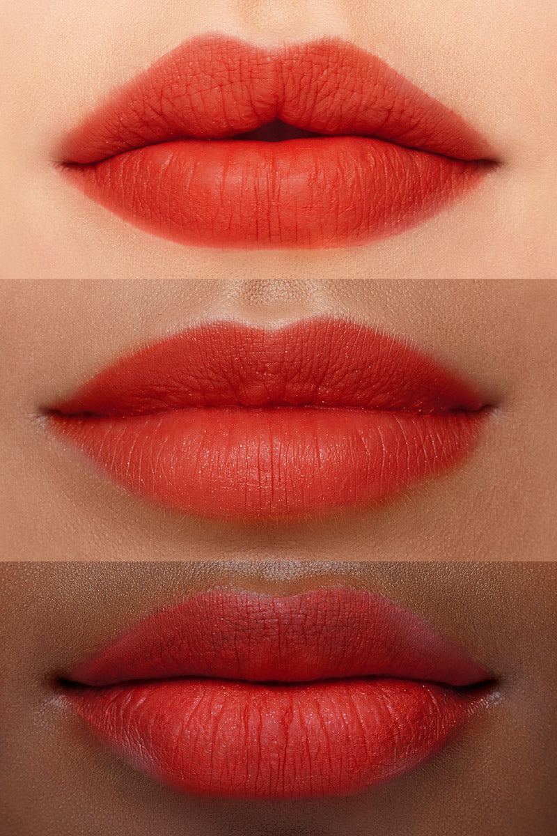 Colourpop Ocean Avenue Hot Red Ultra Blotted Lip lip swatches