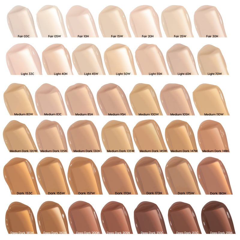 Pretty Fresh Hyaluronic Hydrating Foundation Dark 153 Cool swatch