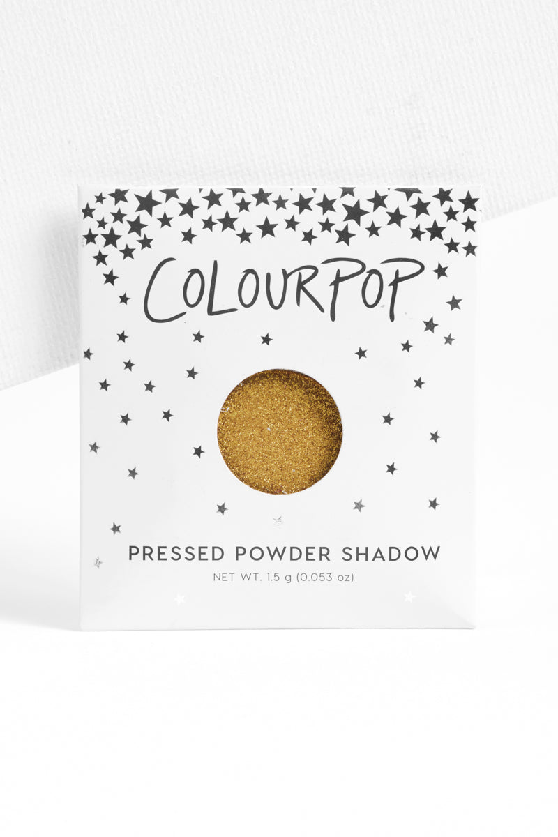 Karat Cake metallic chartreuse Pressed Powder Shadow in unit carton
