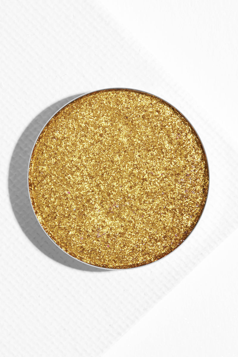 Karat Cake metallic chartreuse Pressed Powder Shadow