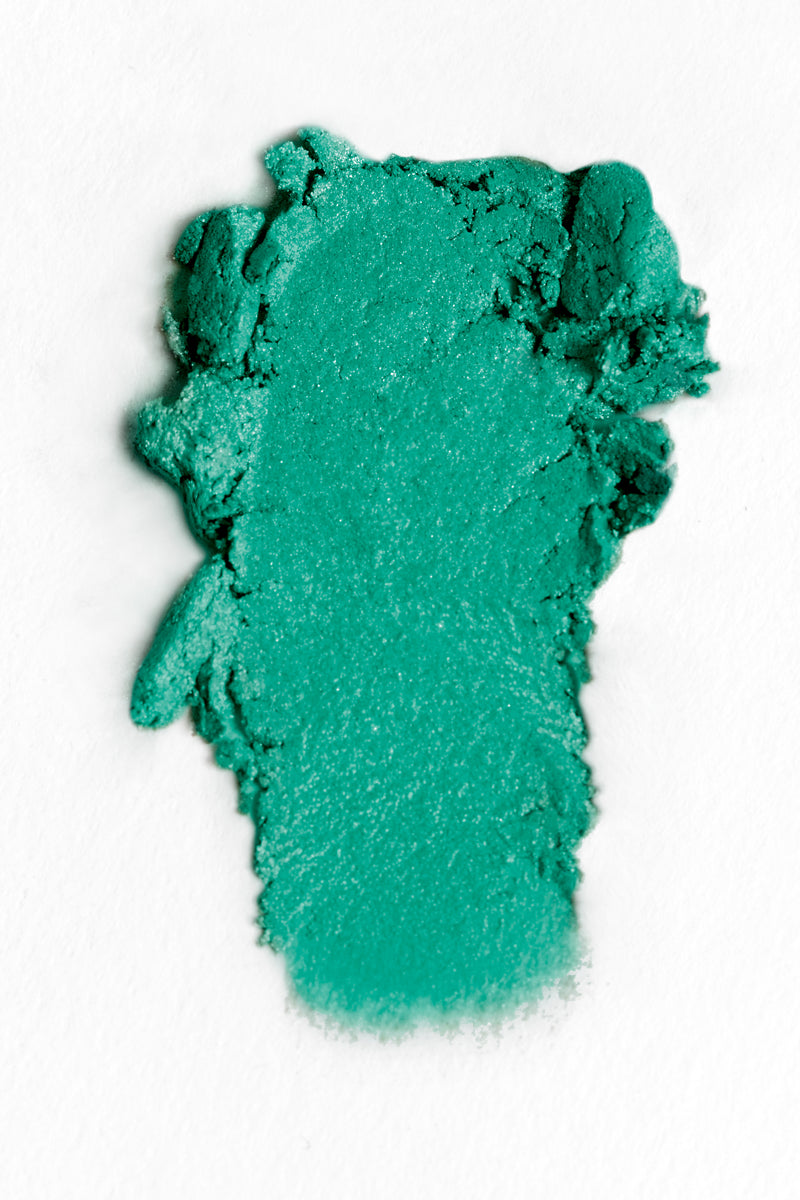 Runnin' Thru the 6 vibrant teal with multi-dimensional glitter Super Shock eyeshadow swatch