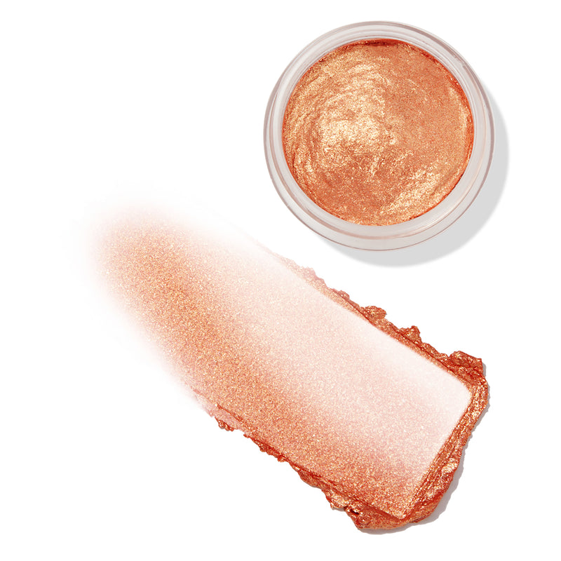 Saguaro vibrant warm coral Jelly Much eyeshadow with a gold shift