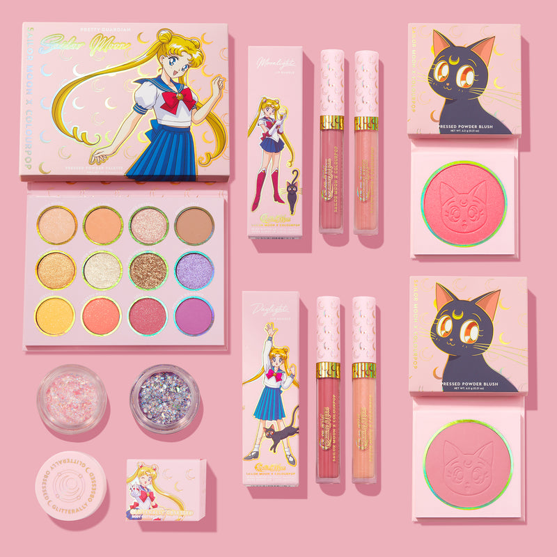 Sailor Moon Makeup Collection includes an eyeshadow palette, lip bundles, glitter gels and blushes