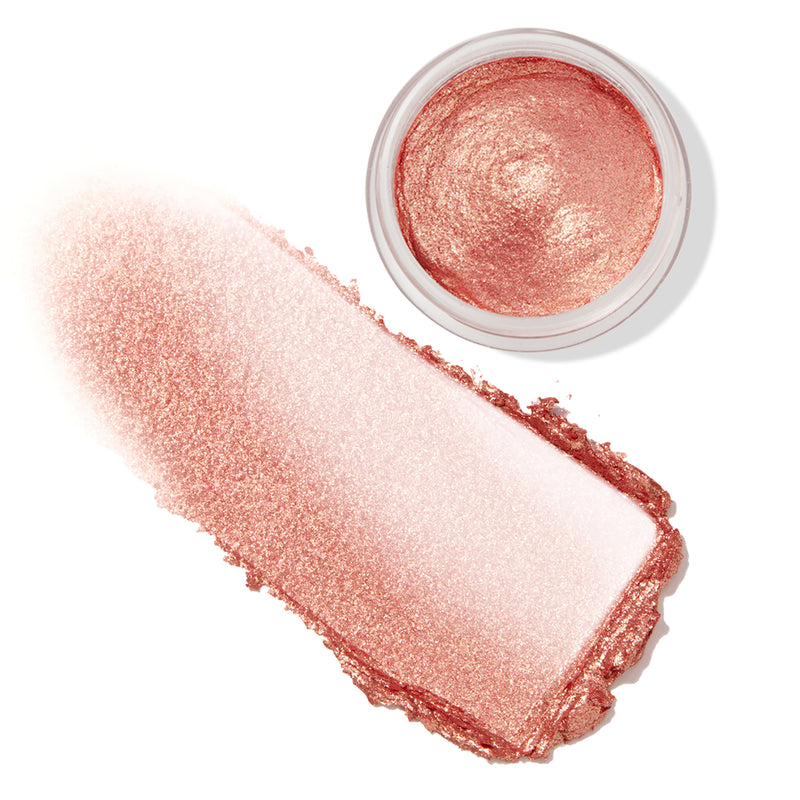 She Grown warm peachy pink Jelly Much eyeshadow with a gold shift